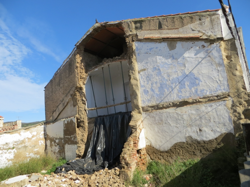 Derrumbe de un cuartel en Badajoz