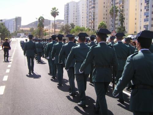 Guardias civiles en formación