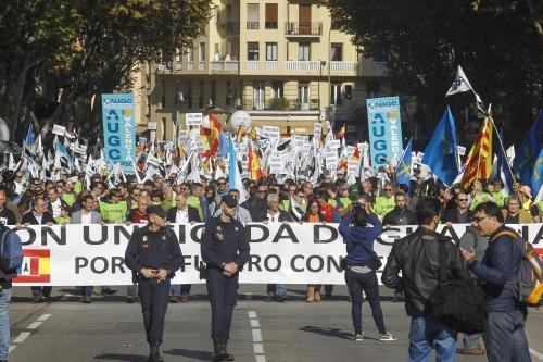 Manifestación de guardias civiles el pasado 14 de noviembre en Madrid