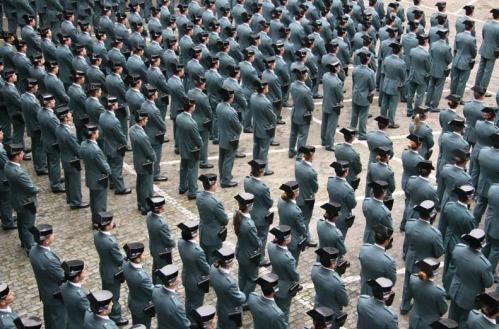 Formación de guardias civiles