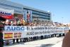 Manifestación contra ETA convocada por AUGC en Vitoria en octubre de 2011