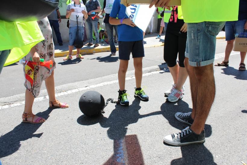 Una imagen de la concentración del pasado día 18 de junio en Cádiz.