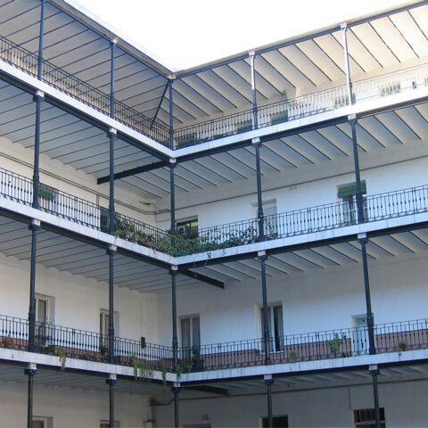 La gran corrala del cuartel de Batalla del Salado, en Madrid
