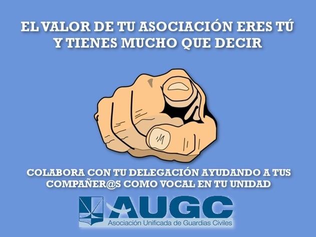 Cartel de la campaña para promover la figura del Vocal de Unidad en AUGC