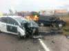 Imagen de archivo de un vehículo oficial de la Guardia Civil accidentado.