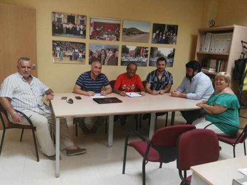 Una imagen de la reunión entre Representantes de AUGC Córdoba y del sindicato UGT en esa provincia.