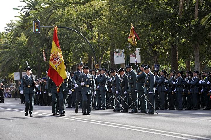 Imagen del desfile celebrado en el Día de la Patrona el pasado año en Málaga.