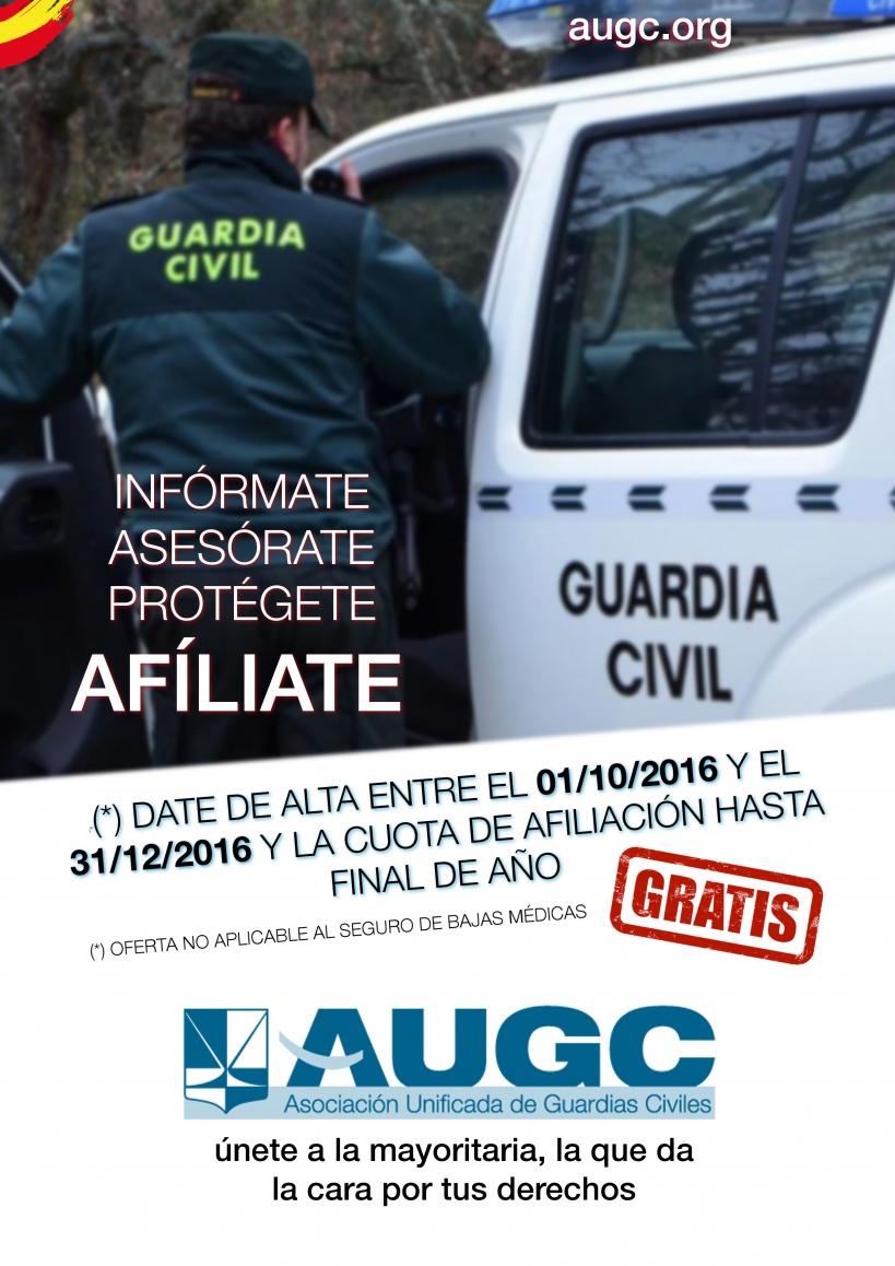 Cartel de la nueva campaña de afiliación de AUGC