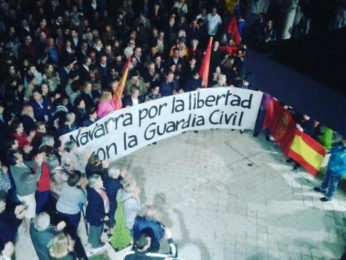 Imagen de la concentración celebrada ayer en Pamplona.
