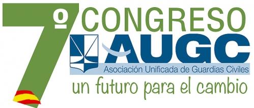 Cartel del 7º Congreso Nacional de AUGC, que se celebra bajo el lema 'Un futuro parar el cambio'