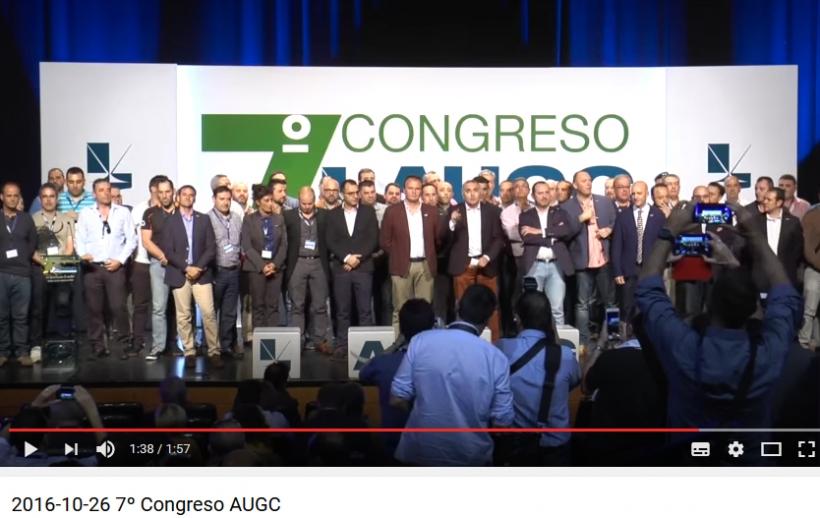 Captura de pantalla del vídeo conmemorativo del 7º Congreso Nacional de AUGC