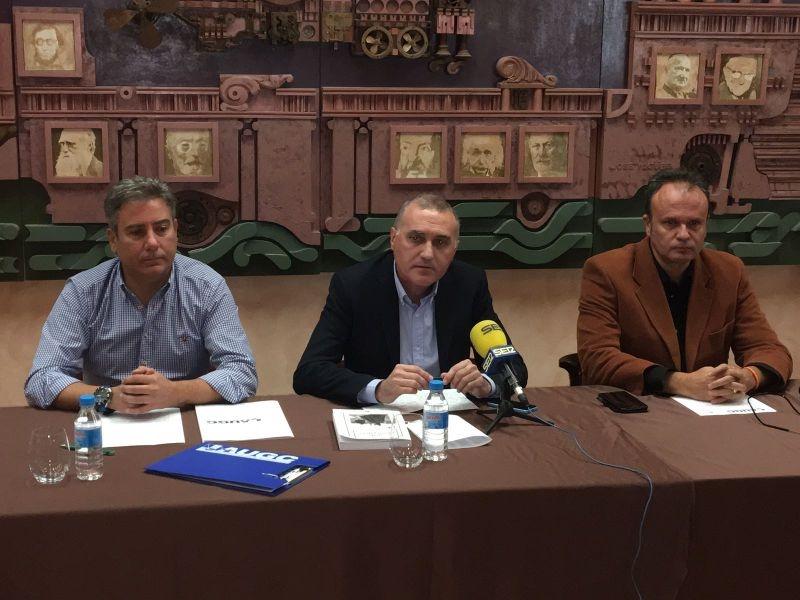 Imagen de la rueda de prensa donde se ha presentado la delegación de AUGC Segovia a los medios