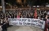 Manifestación en Pamplona en rechazo a las agresiones de Alsasua y en favor de la Guardia Civil.