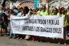 Concentración el pasado  mes de junio frente a la Comandancia de Cádiz para protestar contra el destierro de cuatro guardias civiles