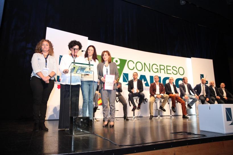Representantes de la Plataforma No + Silencio, durante su intervención en el 7º Congreso Nacional de AUGC, celebrado el pasado 26 de octubre.