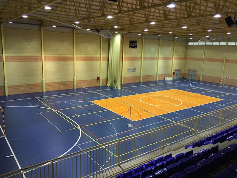 Polideportivo de Daya Nueva, donde los guardias civiles de Torrevieja habían desarrollado sus prácticas durante los últimos meses.