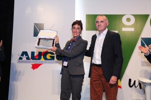 Pilar Villacorta fue homenajeada en el pasado Congreso Nacional de AUGC por su trabajo al frente de la Secretaría Nacional de la Mujer