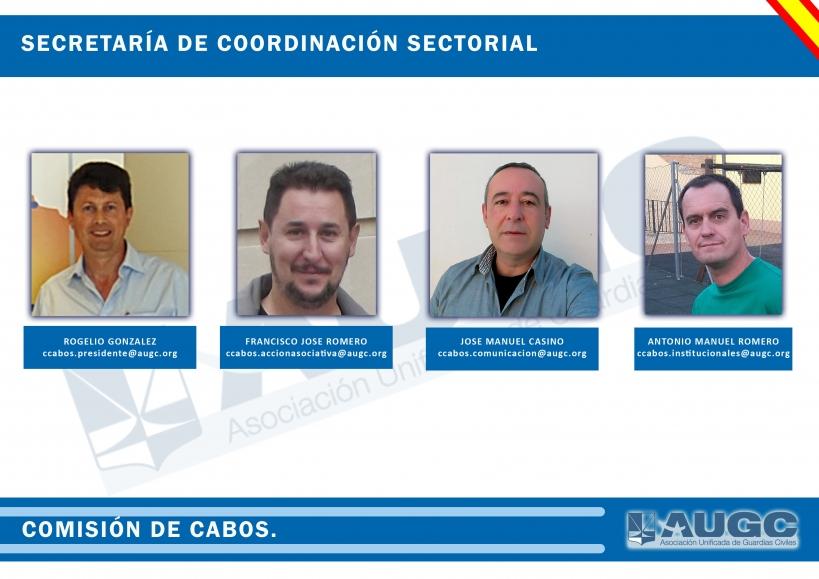 Organigrama de la Comisión de Cabos de AUGC