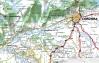 Localización en la provincia de Córdoba de la localidad de Hornachelos (marcada por un círculo rojo)