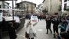 Imagen de archivo en la que cuatro víctimas del terrorismo y miembros del colectivo Covite defendían el pasado octubre la presencia de la Guardia Civil en la localidad navarra de Alsasua. Foto: EFE/ Jesús Diges