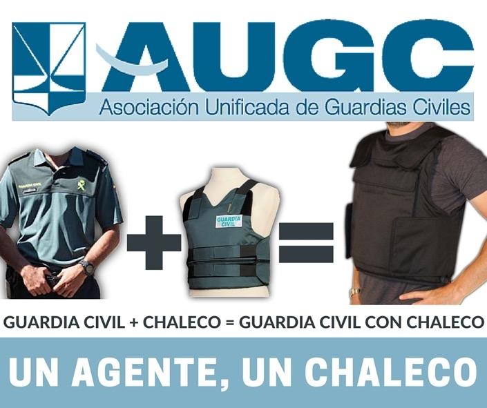 Imagen de la campaña de AUGC para solicitar chalecos individuales en la Guardia Civil
