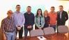 Representantes de AUGC Las Palmas, con miembros del Partido Popular canario en una reunión mantenida recientemente.