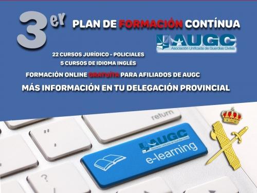 Cartel del III Plan de Formación de AUGC