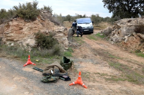 Lugar donde se produjeron los trágicos sucesos del pasado sábado, saldados con la muerte a tiros de dos agentes rurales en la localidad ilerdense de Aspa.