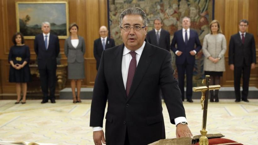 El Ministro del Interior, Juan Ignacio Zoido, en la jura de su cargo