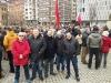 Miembros de la Junta Directiva Provincial de AUGC Navarra, en la concentración celebrada el sábado.