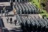 El entonces Ministro del Interior, Jorge Fernández Díaz, y el anterior Director General de la Guardia Civil, Arsenio Fernández de Mesa, presidieron el desfile celebrado en Burgos. FOTO: DIARIO DE BURGOS/VALDIVIELSO