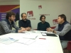 Un instante de la reunión de representantes de AUGC Cuenca con el coordinador de IU en la provincia.