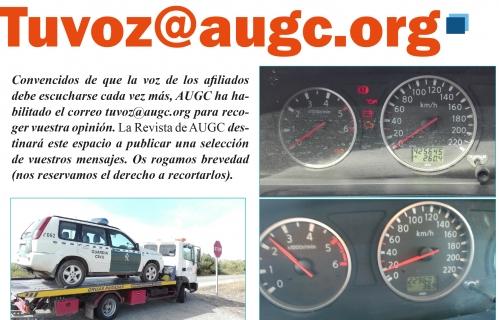 Detalle de la página de La Revista de AUGC donde se recoge la sección dedicada a 'Tu Voz'