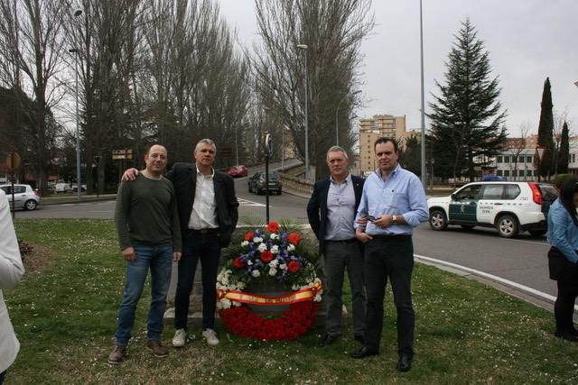 De izquierda a derecha, Alberto Pastrana (Sec. de Organización de AUGC Palencia, Eduardo Rodriguez (Sec. General), Angel Gutierrez (AVT) y Juan Villoria (Sec. Jurídico).