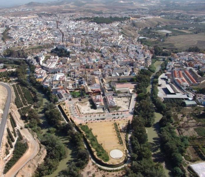 Vista aérea de la localidad cordobesa de Puente Genil