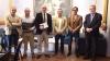 Los representantes de AUGC con el presidente de la Diputación de Córdoba