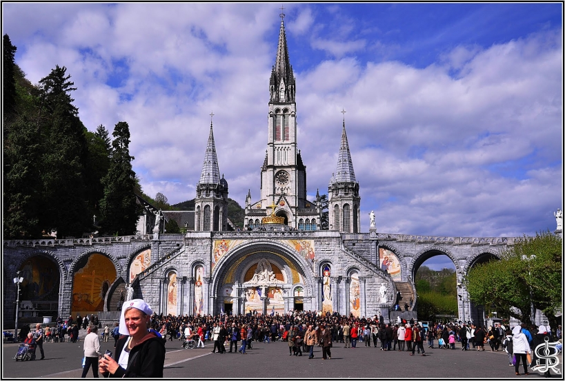 Santuario de Lourdes, en Francia.