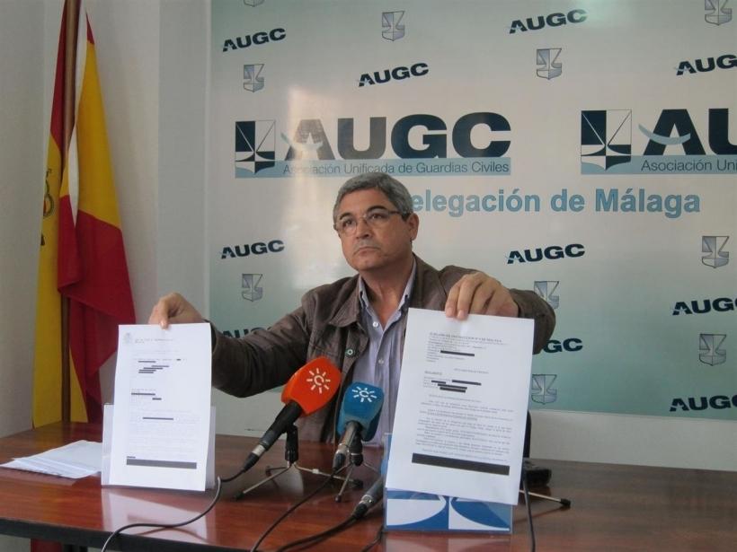 El secretario general provincial de AUGC Málaga, Ignacio Carrasco, en una imagen de archivo de una rueda de prensa.