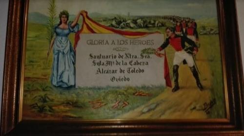 Cuadro de temática franquista que se exhibe en la Comandancia de Badajoz. Foto: Eldiario.es