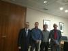 Representantes de AUGC Burgos posan con el subdelegado del Gobierno en la provincia.