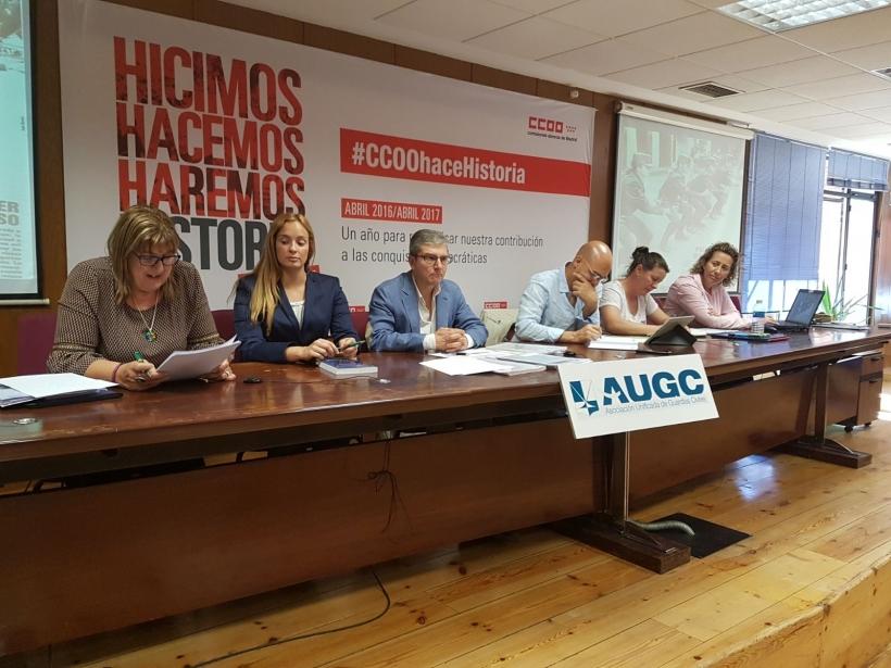 Ponentes en la Comisión de Igualdad de AUGC.