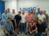 Representantes de AUGC y otras asociaciones, en la nueva sede de Valencia.