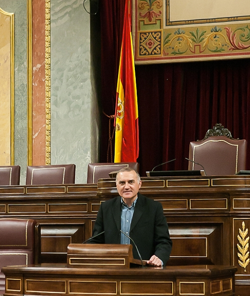 Alberto Moya, en el Congreso.