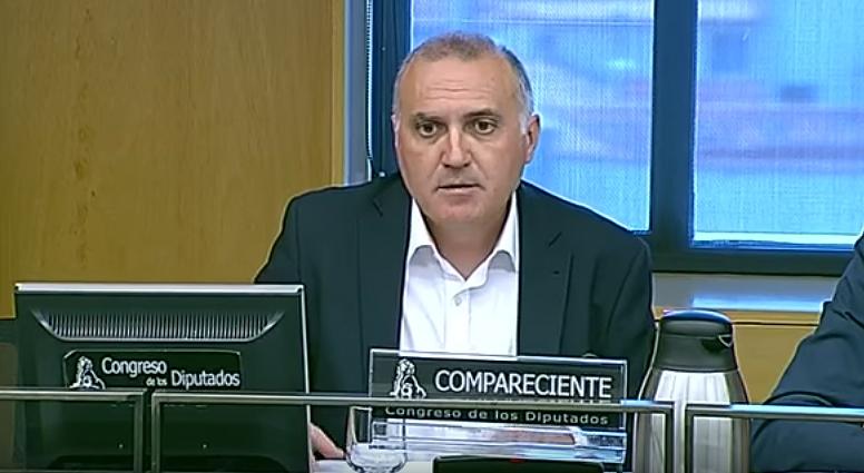 Alberto Moya, en un momento de su comparecencia de ayer.
