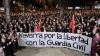 Concentración celebrada en Pamplona en apoyo a la Guardia Civil tras las agresiones de Alsasua.