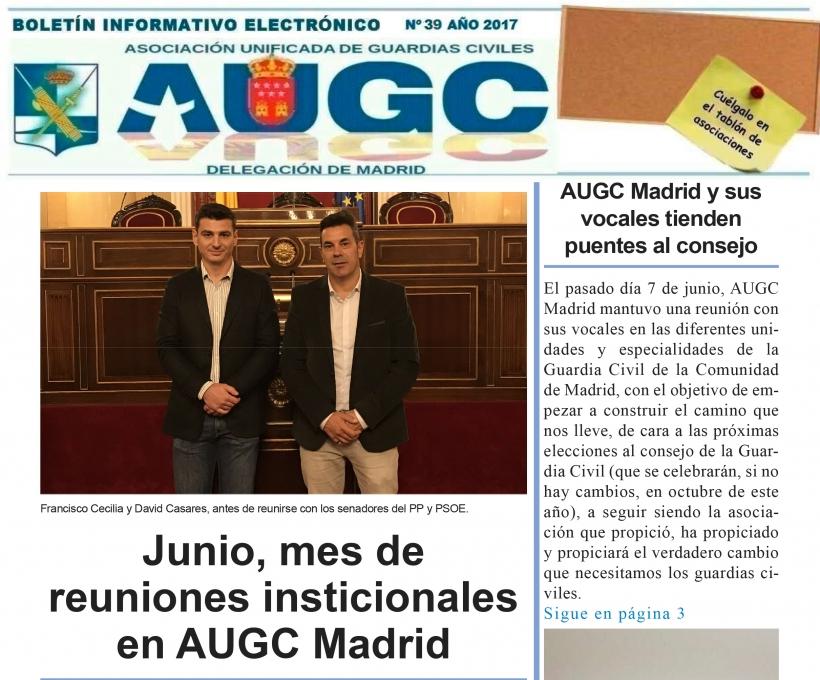 Boletín informativo AUGC Madrid julio 17