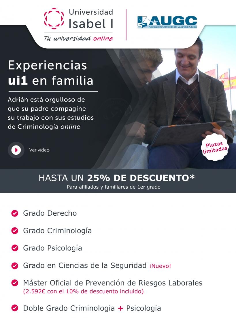 Oferta para afiliados de AUGC de la Universidad Isabel I