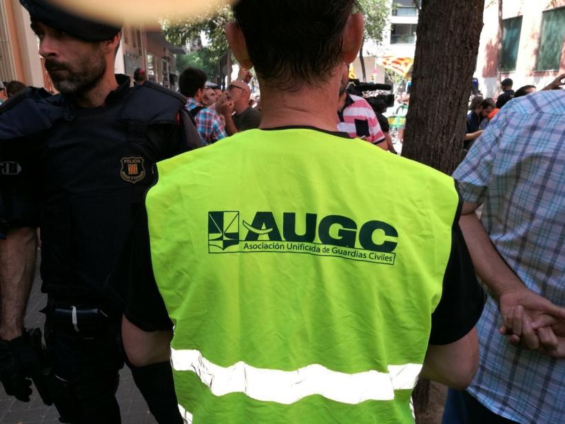 AUGC presente en la manifestación a favor de los agentes de la Guardia Civil destinados en Cataluña