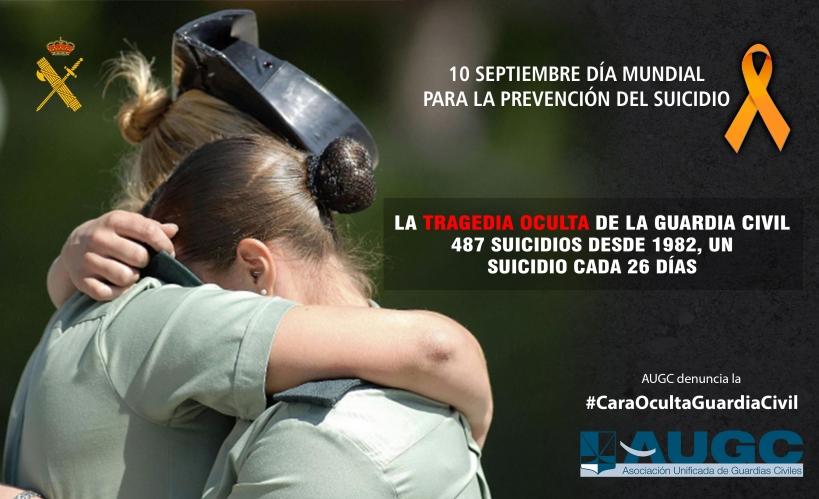 AUGC viene denunciando desde hace años la elevada tasa de suicidios en la Guardia Civil.