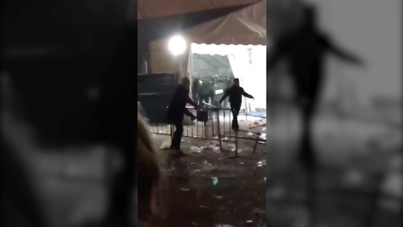 Captura del vídeo donde se recogen las agresiones
